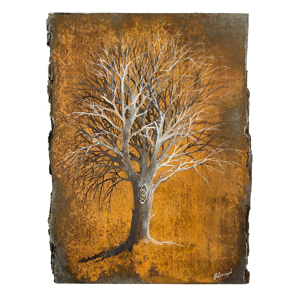 Obraz Malowany na Drewnie - Drzewo Życia