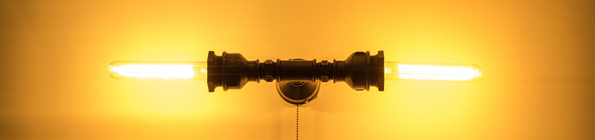 LOFTOWA LAMPA INDUSTRIALNA Z RUR