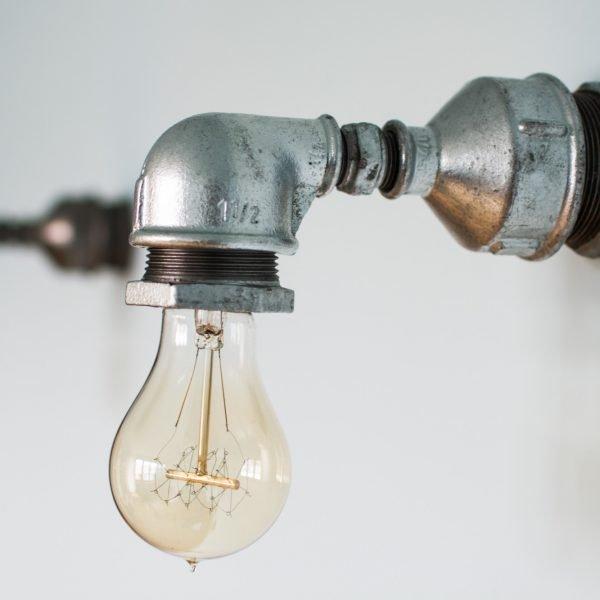 Industrialna Lampa Loft z Rur. Kinkiet Mada.