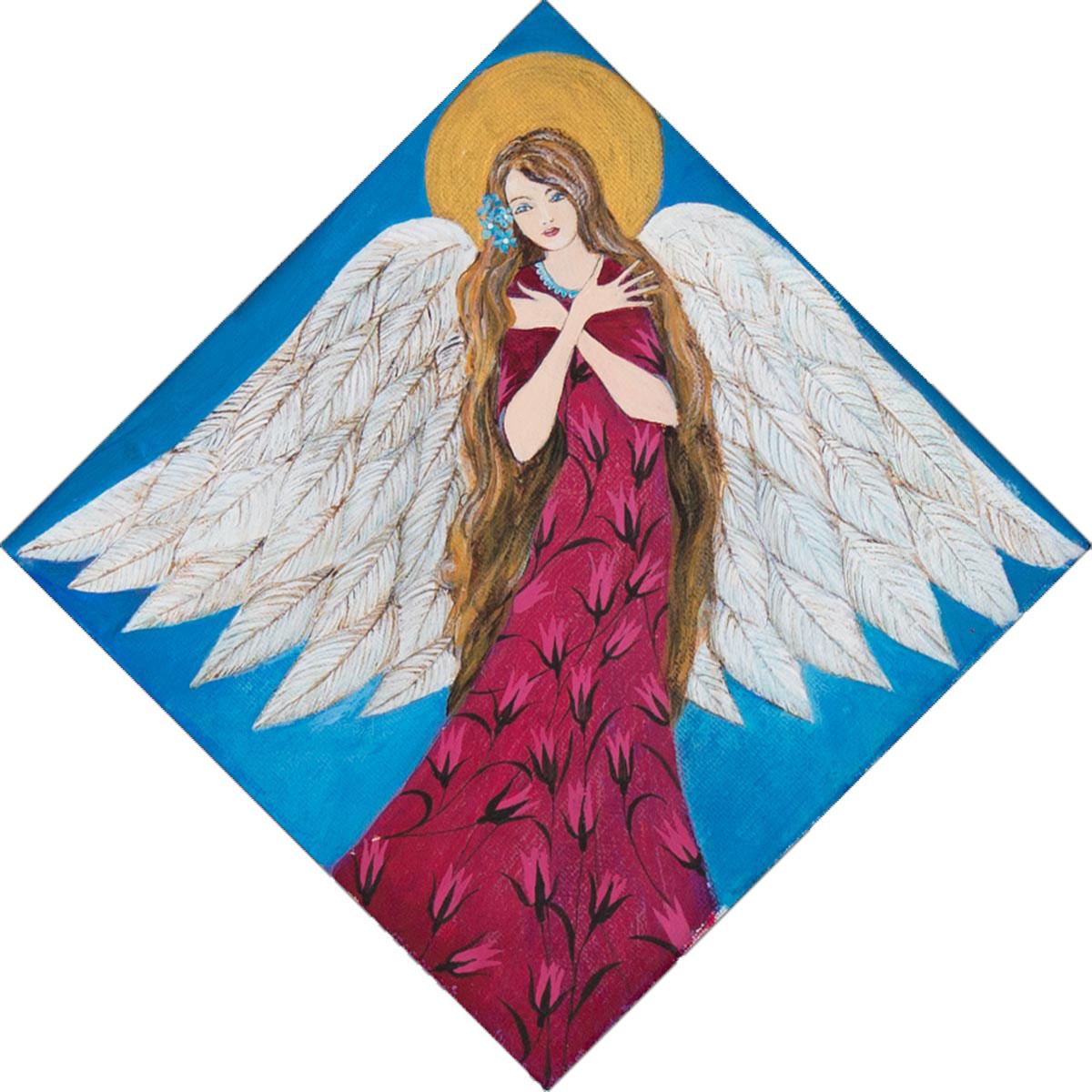 Ręcznie Malowany Anioł na Prezent