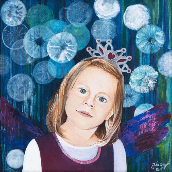 Portret Malowany Ręcznie na Zamówienie – Hanusia