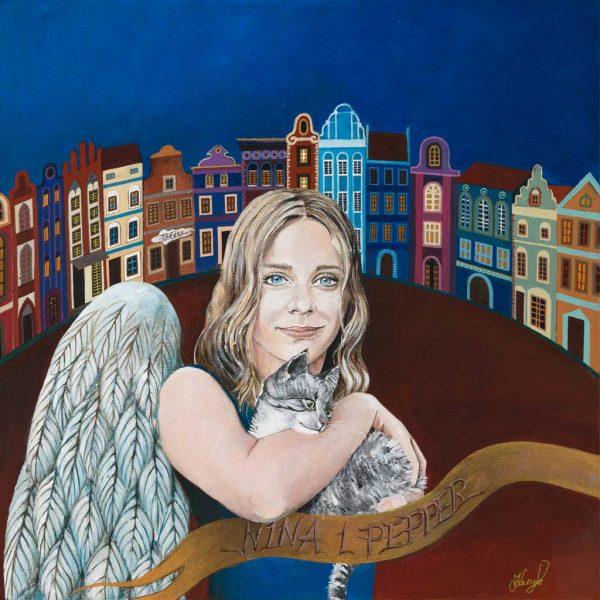 Ręcznie Malowany Anioł – Nina z Pepper