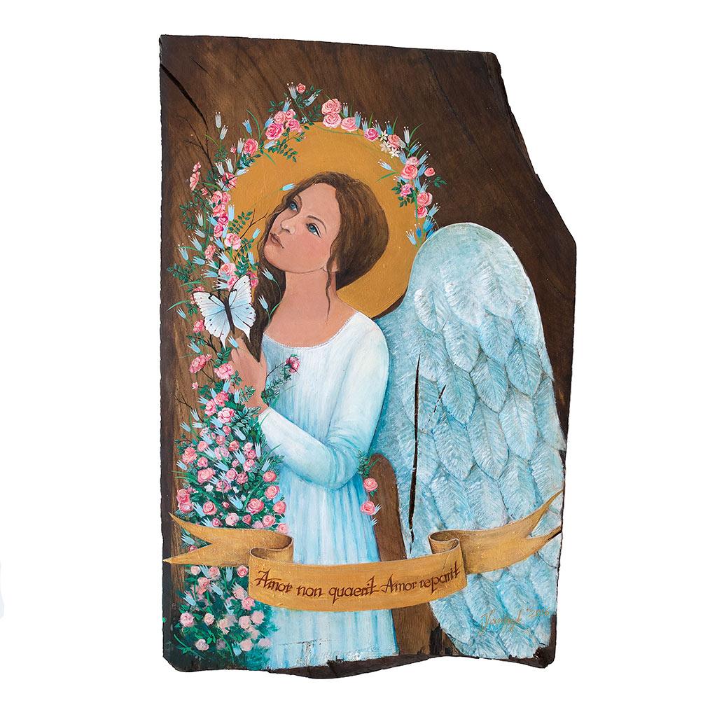 Ręcznie Malowany Biały Anioł