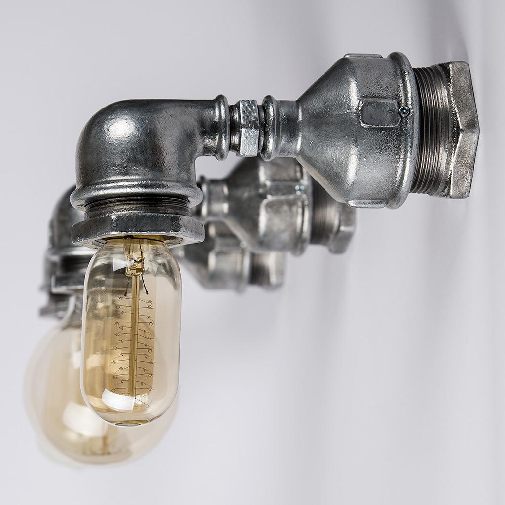 Industrialne Lampy Loft Wykonane z Rur Ocynkowanych