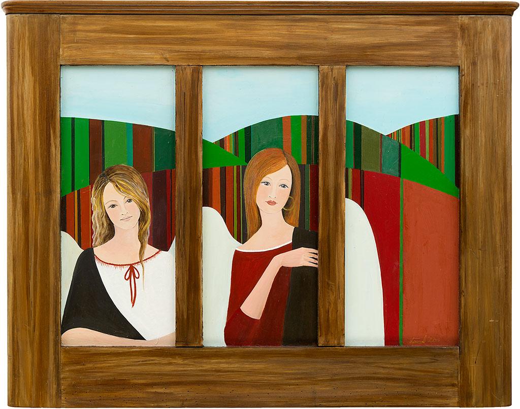 Obraz malowany na drewnie - Anioły Świętokrzyskie