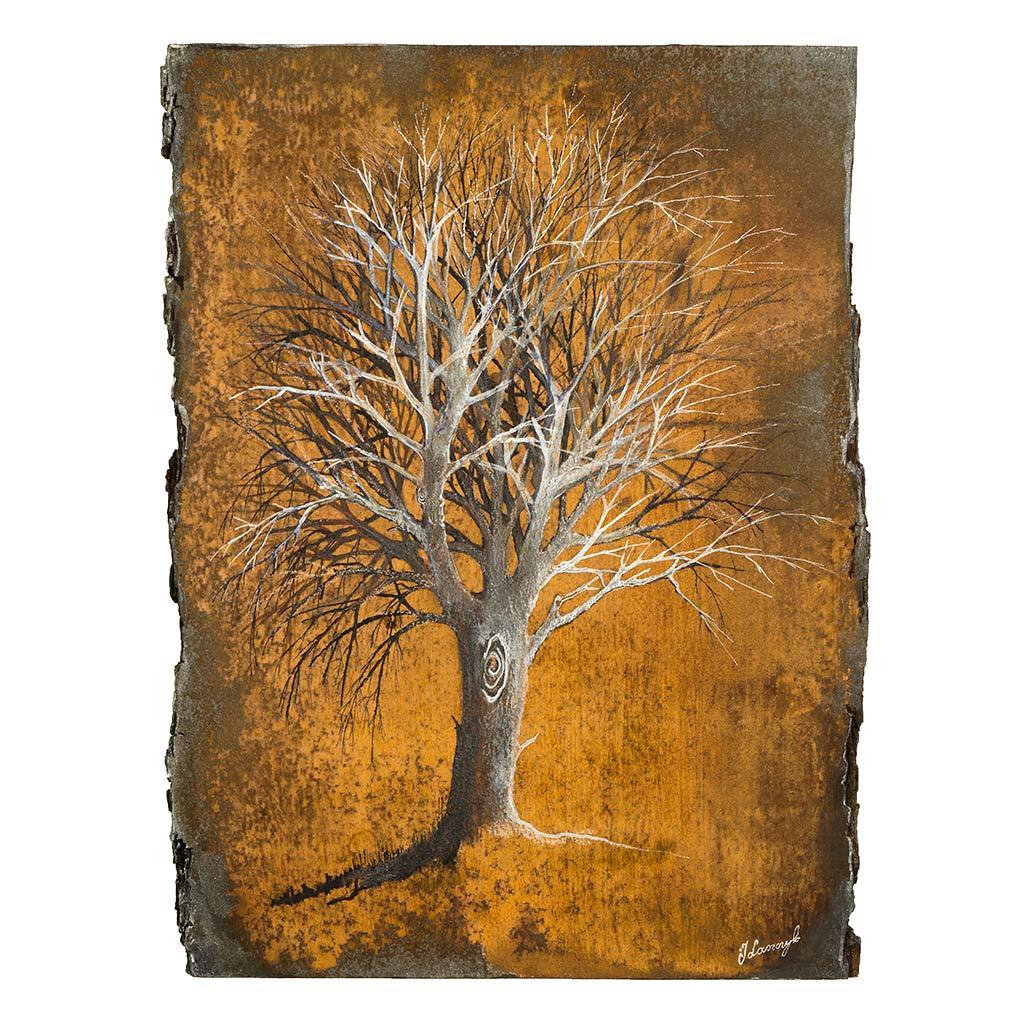 Obraz Malowany na Drewnie zatytułowany Drzewo Życia