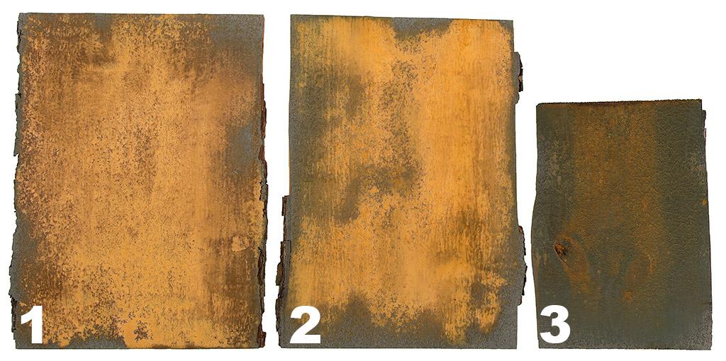 Rdza na Drewnie - trzy zardzewiałe deski