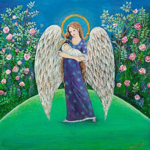 Anioł Malowany na Komunię
