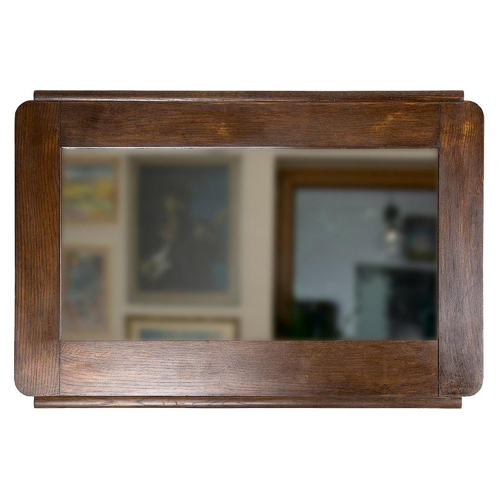 Lustro w Starej Dębowej Ramie. Wykonana własnoręcznie ze starego łóżka rama do lustra
