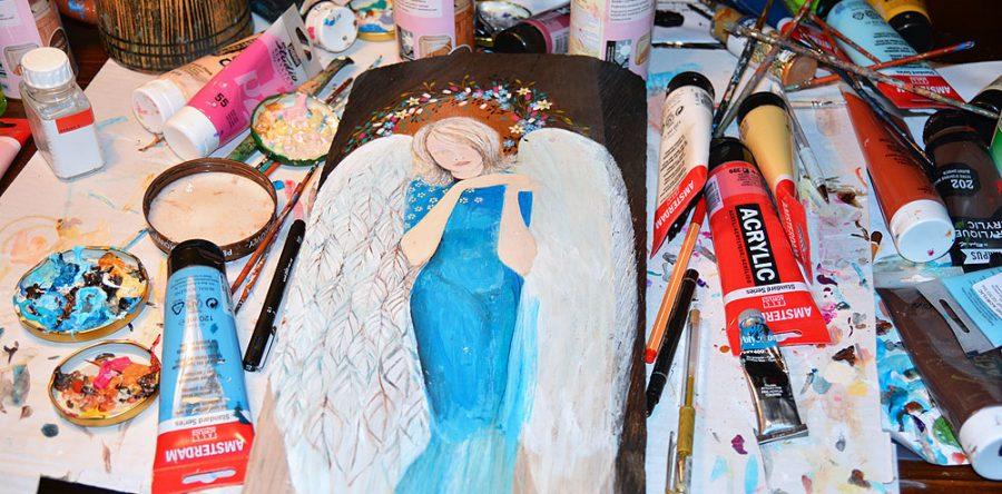 Obrazy Malowane na Drewnie