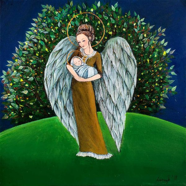 Anioł z Dzieciątkiem na Rękach