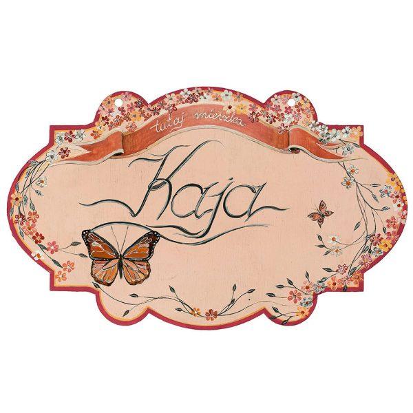 Tabliczka z Imieniem - ręcznie namalowana na drewnie