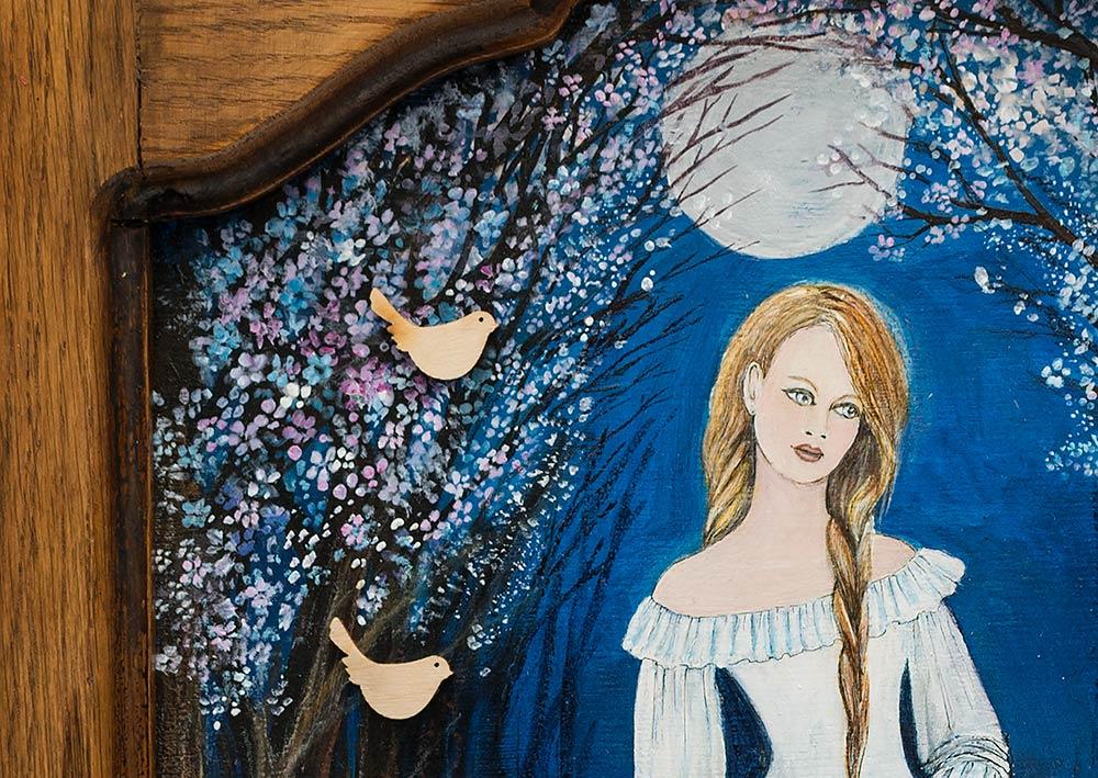 Obraz na desce - Marzanna - słowiańska bogini zimy iśmierci