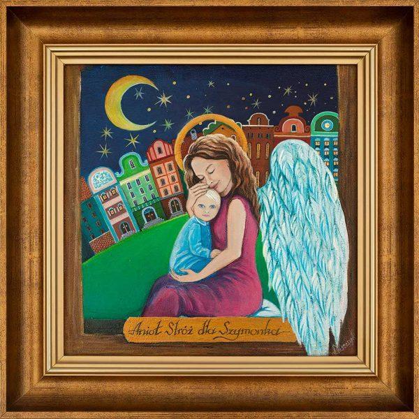 Anioł malowany na Chrzest