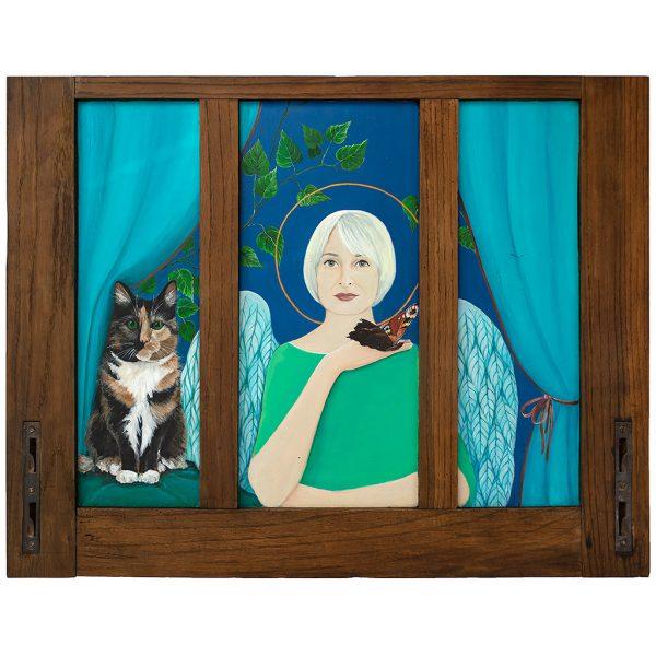 Anioł Stróż dla Alicji Obraz na Drewnie