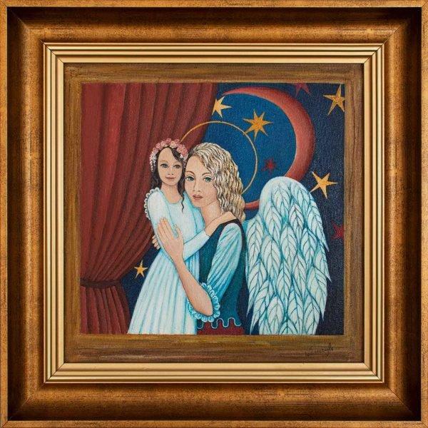 Obraz z Aniołem na Komunię
