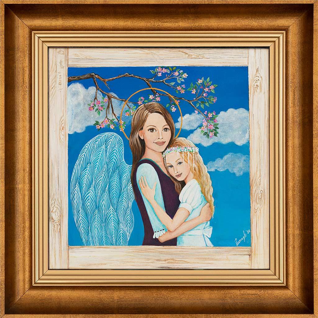 Anioł Malowany na Komunię dla Łucji
